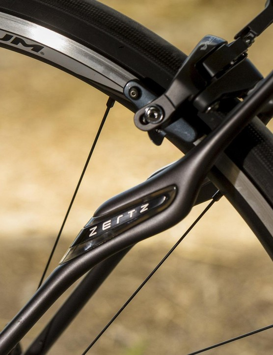 Zertz inserts in the seatstays and forks are designed to absorb vibration for a smoother ride