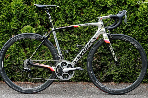 Alberto Contador's custom-painted Specialized S-Works Tarmac