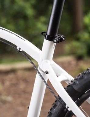 The aluminium frame is well made, with a complete set of rack and mudguard mounts
