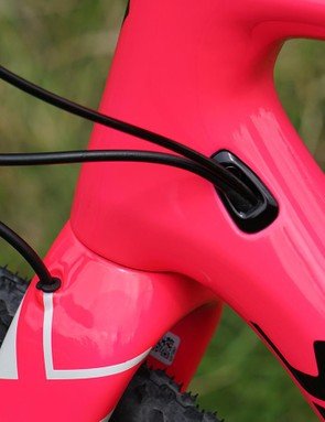 Specialized's new cable management ports allow for a lot of variation for rider preferences