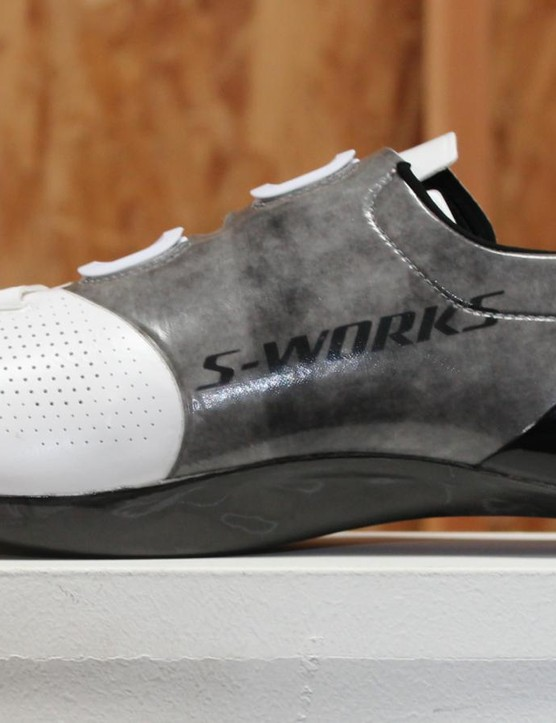 Specialized uses Dyneema (the gray part) in the uppers of its S-Works 6 shoes