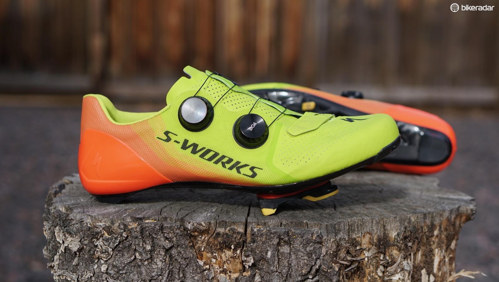 The Specialized S-Works 7 road shoe is an evolution of the brand's high-end footwear