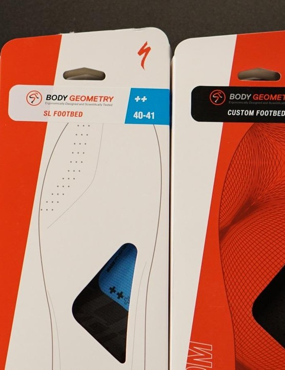 Specialized still offers stock insoles of various instep heights, too