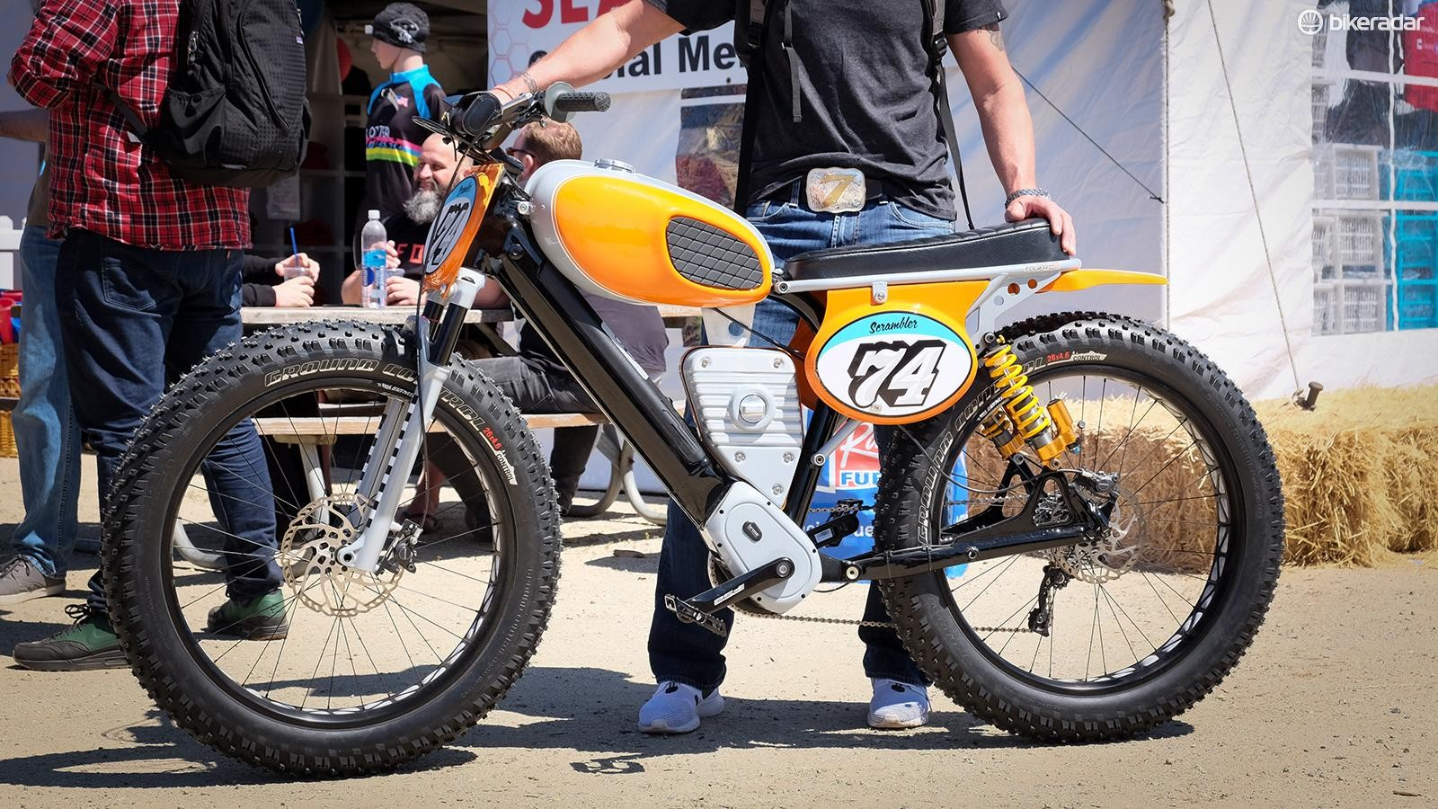 E-bikes were everywhere at Sea Otter, but this one stood out from the crowd