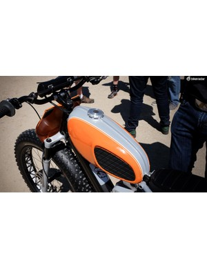 Currently, the gas tank is just for looks. However Egger has considered modifying it for additional battery capacity or extra storage