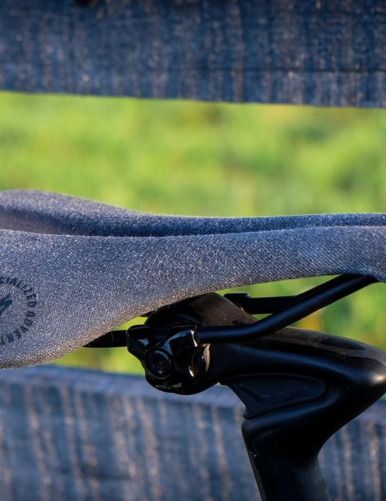 The Phenom saddle gets a matching cover. It develops a nice patina as it wears in