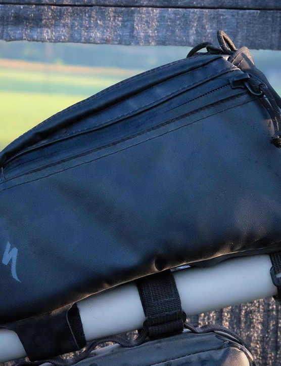 The Burra Burra top tube bag is just big enough to hold a point-and-shoot camera or some mid-ride snacks