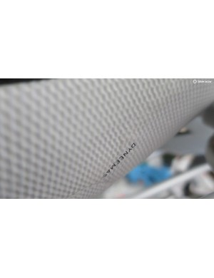 The Dyneema mesh is trapped between layers of a 4-way stretch mesh