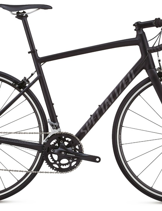 The entry level Allez comes with Shimano Claris gearing, alloy frame, but still features that full FACT carbon fork