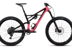 The Enduro Elite 650b in all its pink and black glory (black version also available)
