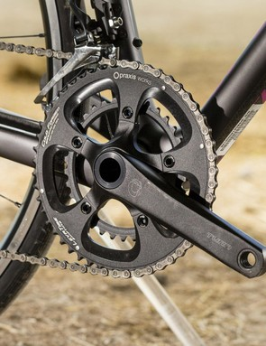We were surprised to see this Praxis crankset on a bike at this price