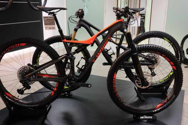 The S-Works Stumpjumper with Ohlins fork and shock, and room for a bottle cage