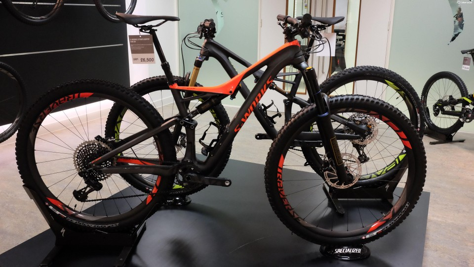 2e0ef4b1217 The S-Works Stumpjumper with Ohlins fork and shock, and room for a bottle