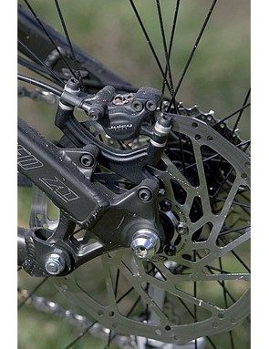 Avid Juicy 5 hydraulic disc brakes with 203mm (8in) rotors are a real bonus once they're bedded in
