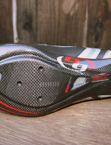 Engineered carbon fibre sole.