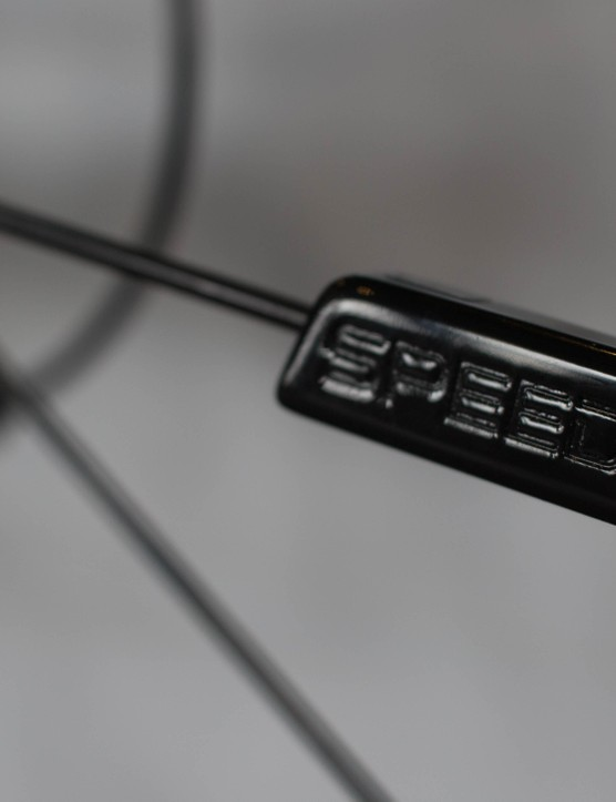 And here's a wheel speed sensor, mounted on a spoke in the rear wheel