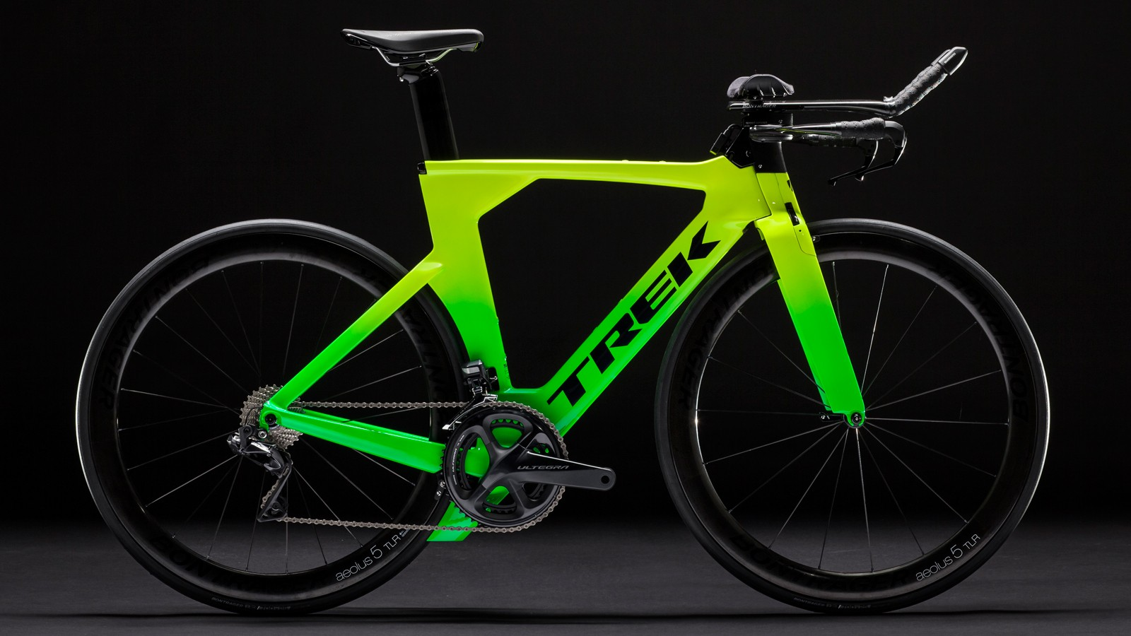 Finding your triathlon bike in a sea of aero bars will be easier with a bright paint job