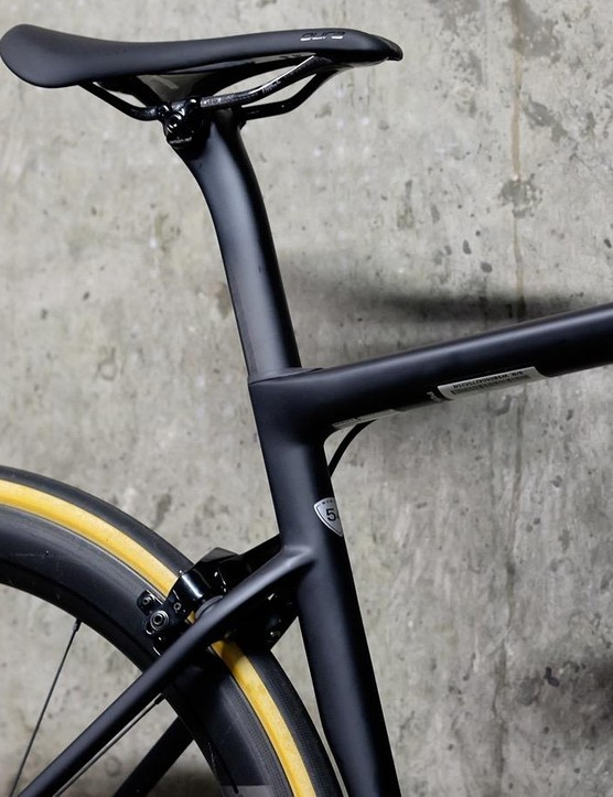 Specialized has dropped the seatstays to allow more compliance for greater comfort on the seat tube