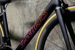 The S-Works version of the Tarmac has a FACT 12r carbon frame