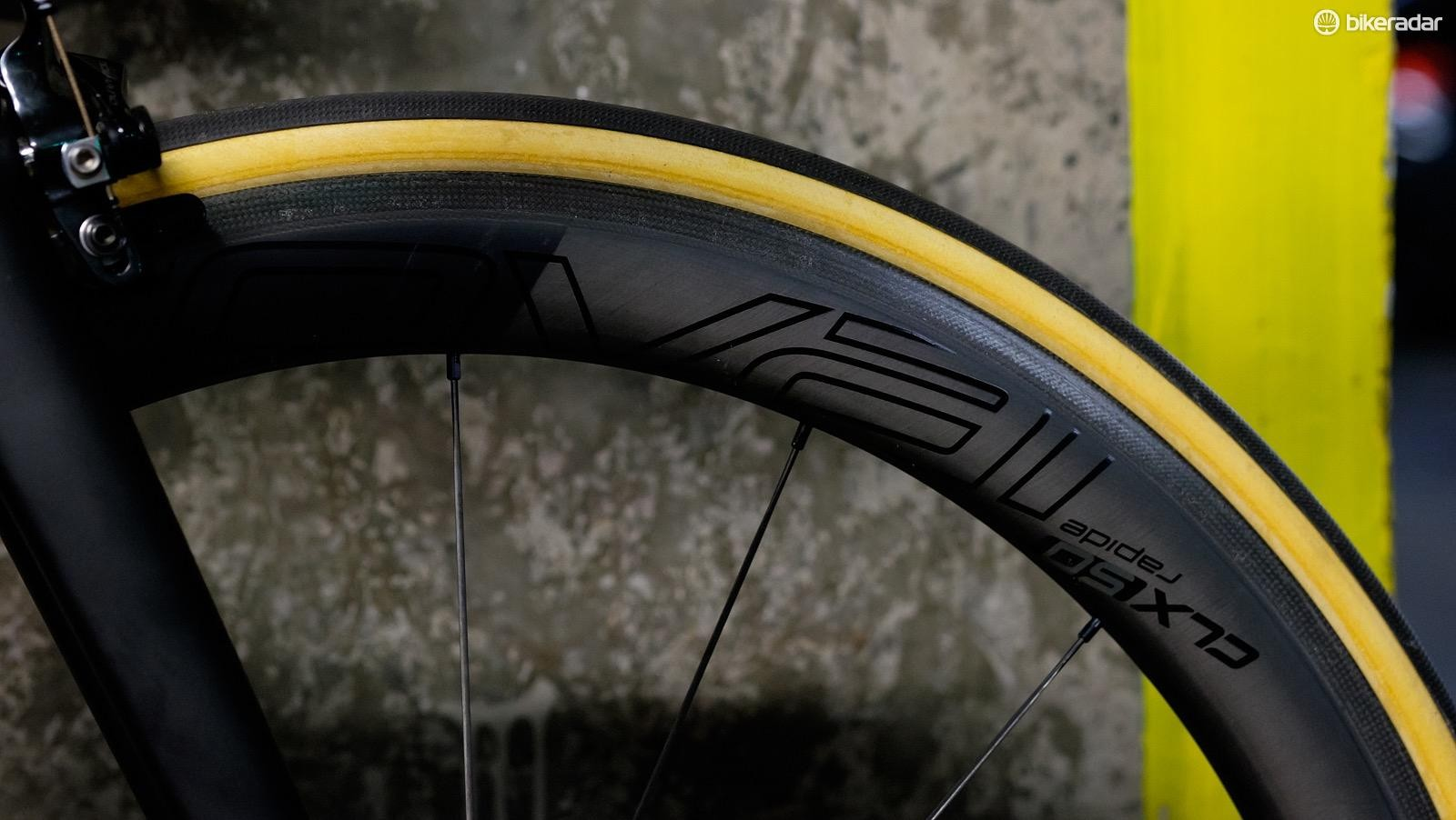 Roval CLX 50 wheels combine 50mm carbon rims with Roval AF1 hubs with CeramicSpeed bearings