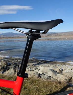 Specialized's Toupé Sport saddle will work for some riders and is easy to adjust thanks to the two-bolt seatpost