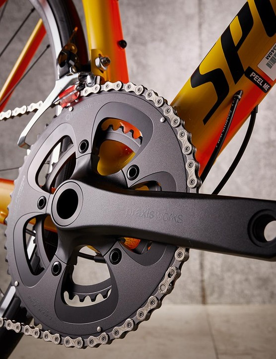 Good-looking Praxis cranks get things turning