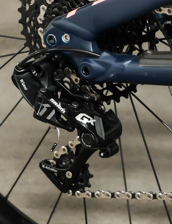 The 1x11 groupset is a mixture of SRAM NX and GX
