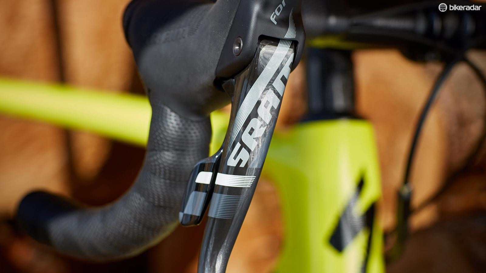 SRAM's Force 1 takes care of stopping duties, ably and consistently