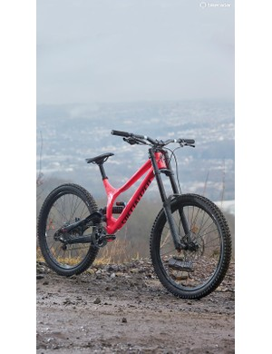 The Demo has a low BB which makes it predictable and engaging to ride, but means you need to take care when pedalling!