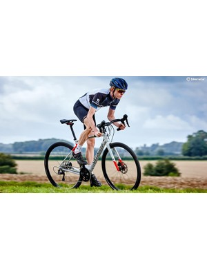 The Diverge uses a spring suspension system below the stem to absorb road chatter