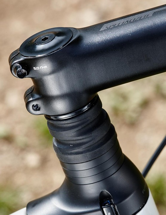 Specialized's Future Shock suspension adds both comfort and height to the Diverge's front end