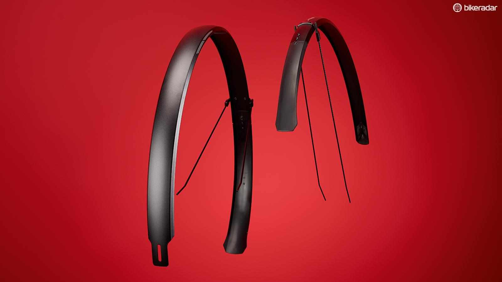 These are fairly heavyweight, sturdy mudguards and their wide body ensures excellent rigidity