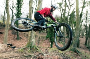Drop into a rowdy trail and there's a calmness and balance to the bike that encourages you to push things