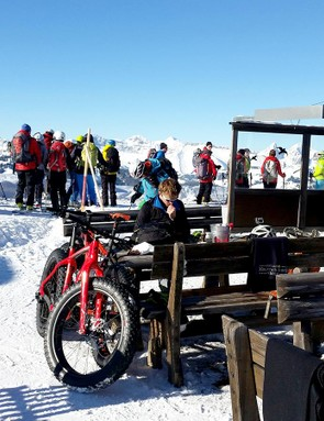 We tested the Fatboy in appropriate surroundings, racing it the Snow Bike Festival in Switzerland