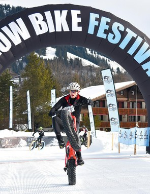 Our tester Seb Stott finished a creditable 15th on the third day of the Snow Bike Festival
