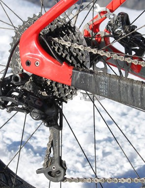 The 1x10 XO drivetrain proved ample for most situations, though we occasionally found ourselves spinning out when sprinting