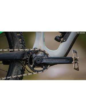 While the groupset is SRAM GX, the crankset is the RaceFace Aeffect