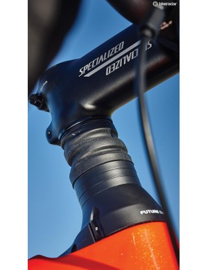 The Roubaix's rubber-covered front 'Future Shock' cartridge
