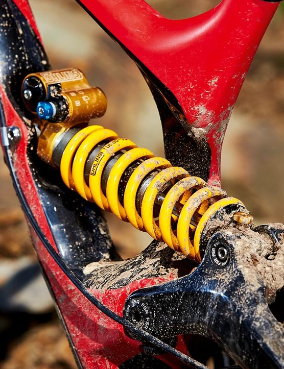 A custom Öhlins TTX shock takes care of rear damping duties