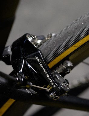 If you prefer disc brakes, there is now a disc version of the Tarmac available