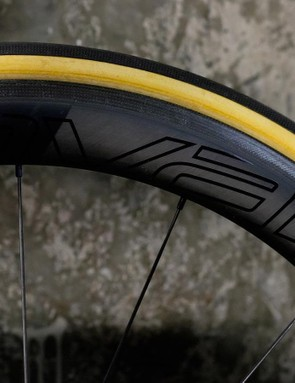 Premium carbon Roval wheels use CeramicSpeed bearings
