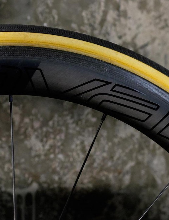 Premium carbon Roval wheels use CeramicSpeed bearings