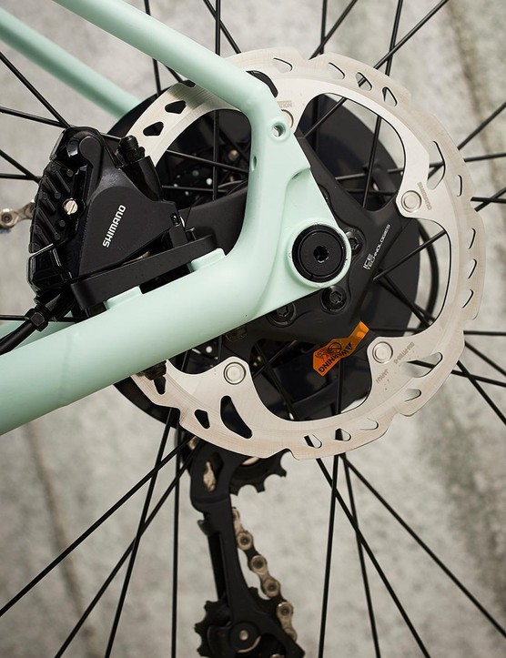 Shimano's hydraulic disc brakes deliver great stopping power