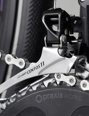 The Praxis chainset offers a wider gear range than a regular compact setup