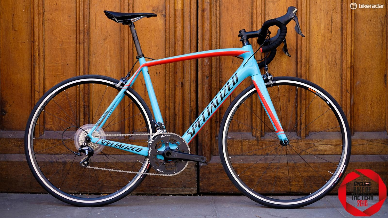 The Specialized Tarmac Comp's striking paint job is apparently designed to age naturally