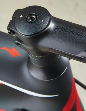 The Specialized's stem is adjustable and very versatile