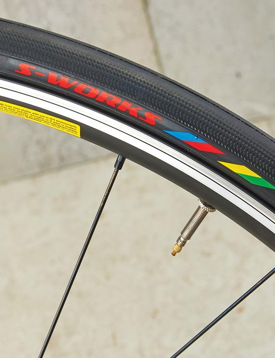 The S-Works Gripton tyres are very impressive on a bike at this price