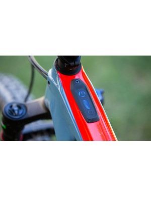 The Turbo Control Unit displays battery charge, pedal assist mode and houses the bikes power (on/off) button