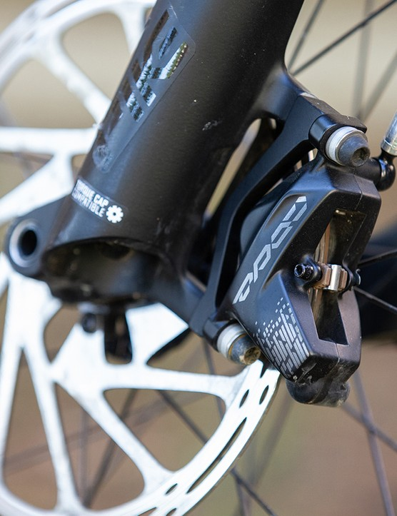 These SRAM Code R brakes provide plenty of power when combined with 200mm rotors