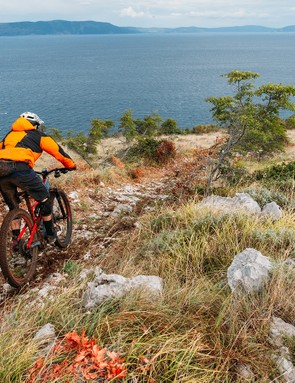 Fast, rough trails provided a good testing ground for the stability of the new Turbo Levo